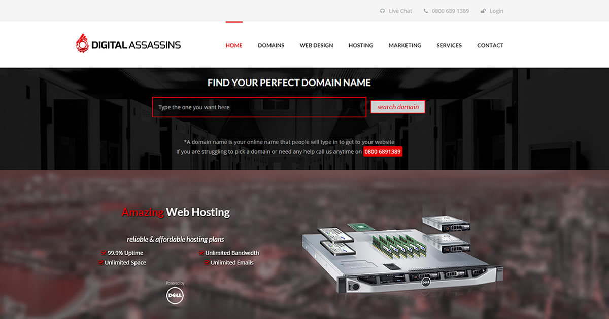 Digital Assassins | Hosting, Domains, Web Design | Hartlepool, Barnstaple, Magaluf